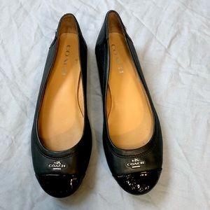 Coach Black Chelsea Leather Flats size 7